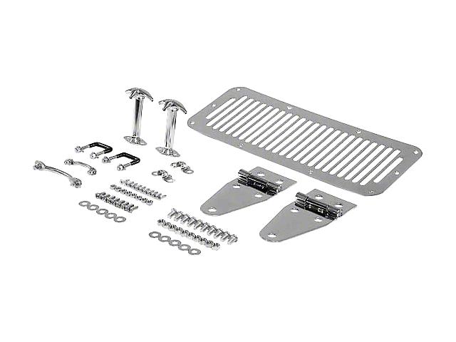 Smittybilt Stainless Steel Complete Hood Kit (87-95 Jeep Wrangler YJ)