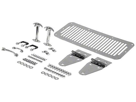 Smittybilt Stainless Steel Complete Hood Kit (87-95 Wrangler YJ)
