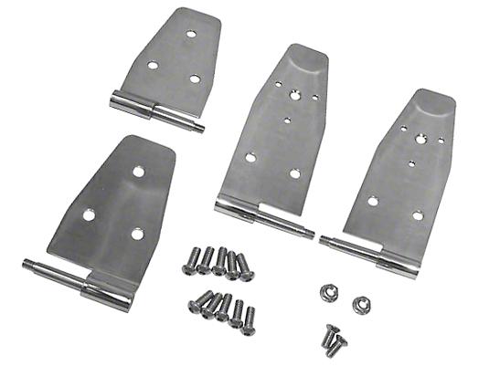 Rugged Ridge Stainless Steel Door Hinge Set (94-95 Wrangler YJ w/ Full Doors)