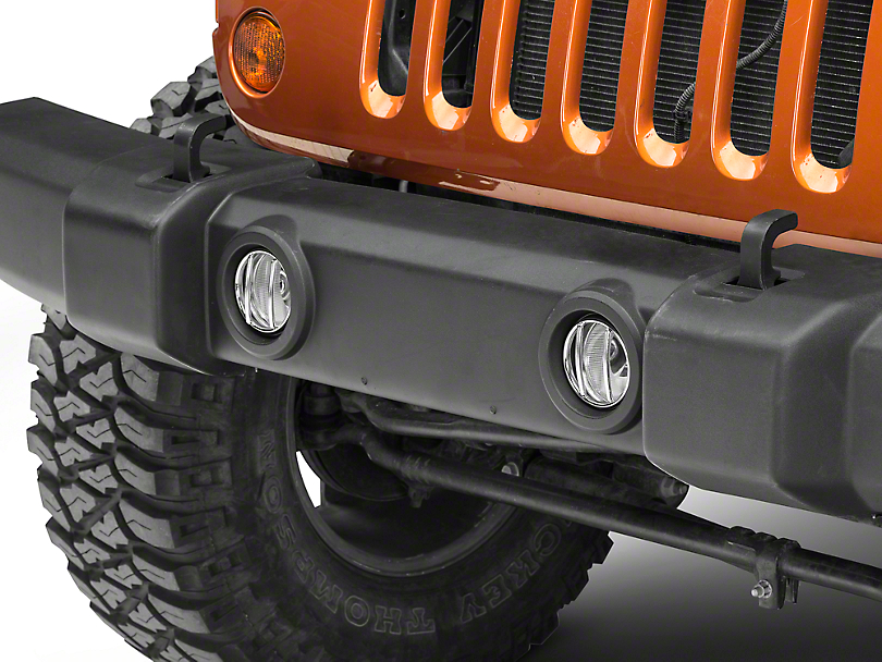 Rugged Ridge Stainless Steel Euro Guard Fog Light Covers - Pair (07-18 Wrangler JK)