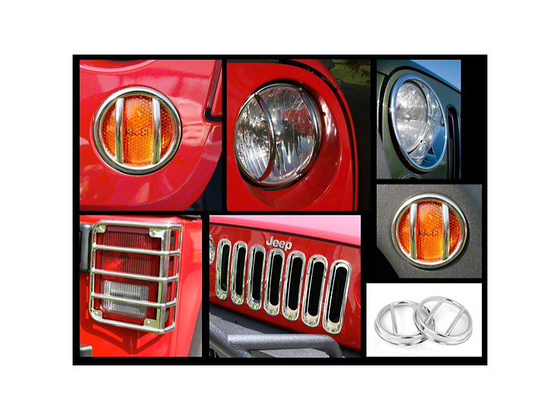 Rugged Ridge Euro 19-Piece Light Guard Kit; Stainless Steel (07-18 Jeep Wrangler JK)