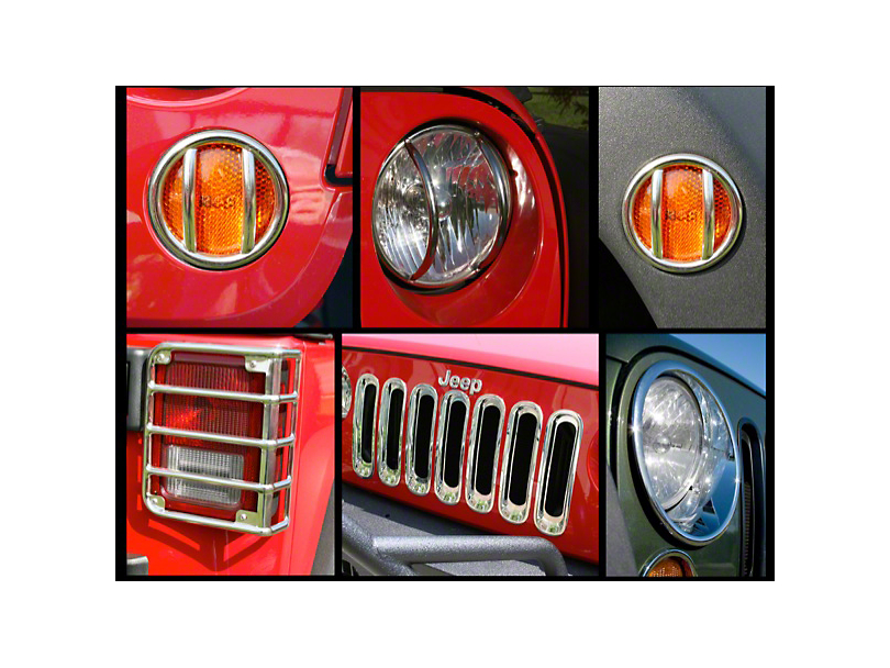 Rugged Ridge 17-Piece Euro Guard Kit - Stainless Steel (07-18 Jeep Wrangler JK)