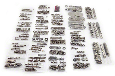 Totally Stainless Fastener Kit - Stainless Steel (87-95 Wrangler YJ w/ Soft Top)
