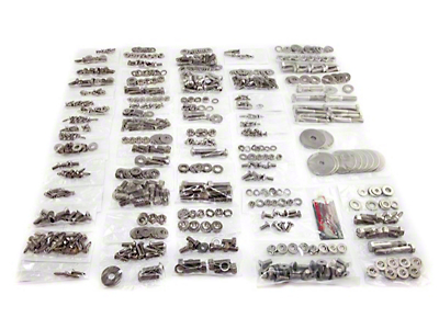 Totally Stainless Fastener Kit - Stainless Steel (87-95 Jeep Wrangler YJ w/ Hard Top)