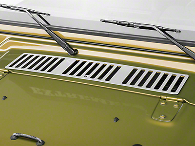 Rugged Ridge Stainless Steel Hood Vent Cover (97 Jeep Wrangler TJ)