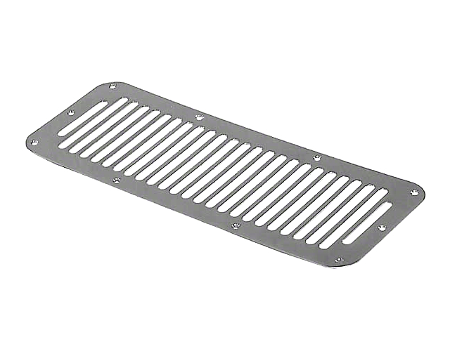 Rugged Ridge Stainless Steel Hood Vent Cover w/ 8 Holes (87-95 Jeep Wrangler YJ)