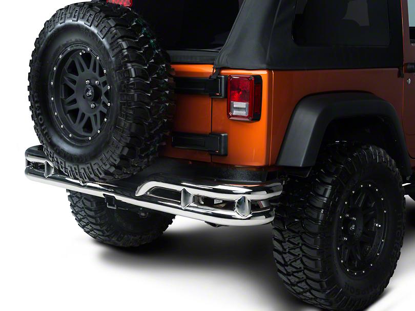 Rugged Ridge Tubular Rear Bumper - Stainless Steel (07-18 Jeep Wrangler JK)