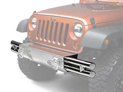Rugged Ridge Tube Ends for XHD Front Bumper - Stainless Steel (07-18 Jeep Wrangler JK; 2018 Jeep Wrangler JL)