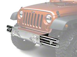 Rugged Ridge Tube Ends for XHD Front Bumper - Stainless Steel (07-18 Jeep Wrangler JK)
