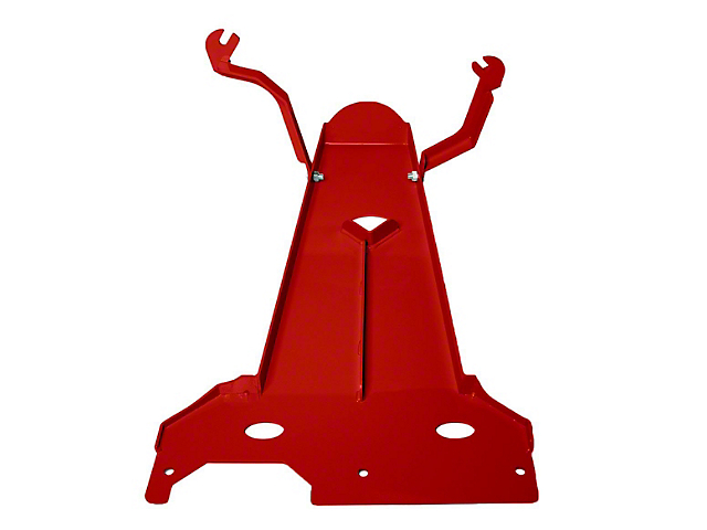 M.O.R.E. Oil Pan/Transmission Skid Plate; Red (18-21 3.6L Jeep Wrangler JL 4-Door)