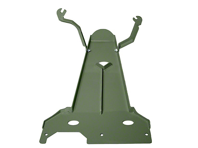 M.O.R.E. Oil Pan/Transmission Skid Plate; Green (18-21 3.6L Jeep Wrangler JL 4-Door)