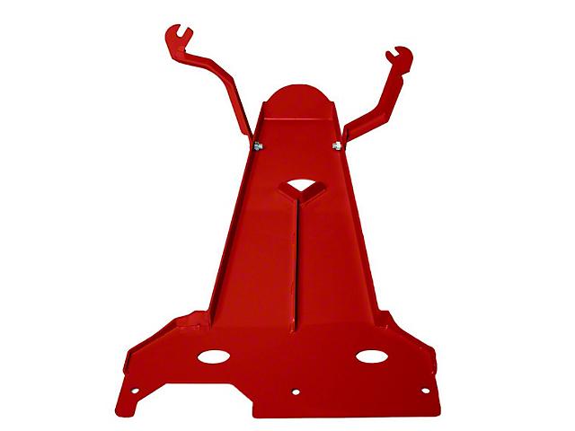 M.O.R.E. Oil Pan/Transmission Skid Plate; Red (18-21 3.6L Jeep Wrangler JL 2-Door)