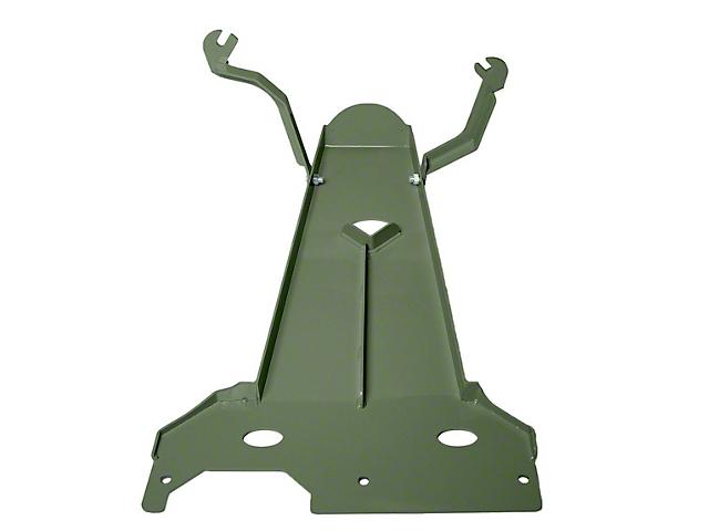 M.O.R.E. Oil Pan/Transmission Skid Plate; Green (18-21 3.6L Jeep Wrangler JL 2-Door)