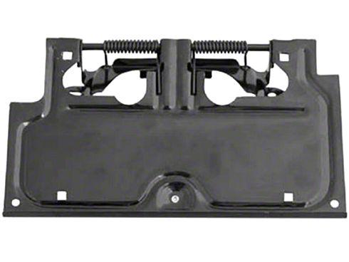 Rugged Ridge License Plate Bracket - Black (87-95 Jeep Wrangler YJ)