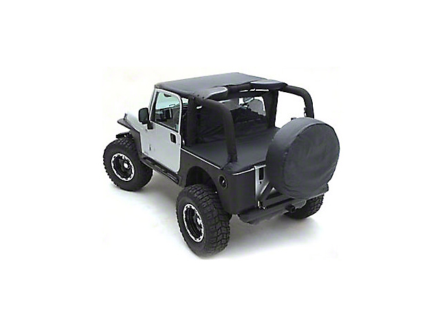 Smittybilt Standard Top; Black Denim (97-06 Jeep Wrangler TJ)