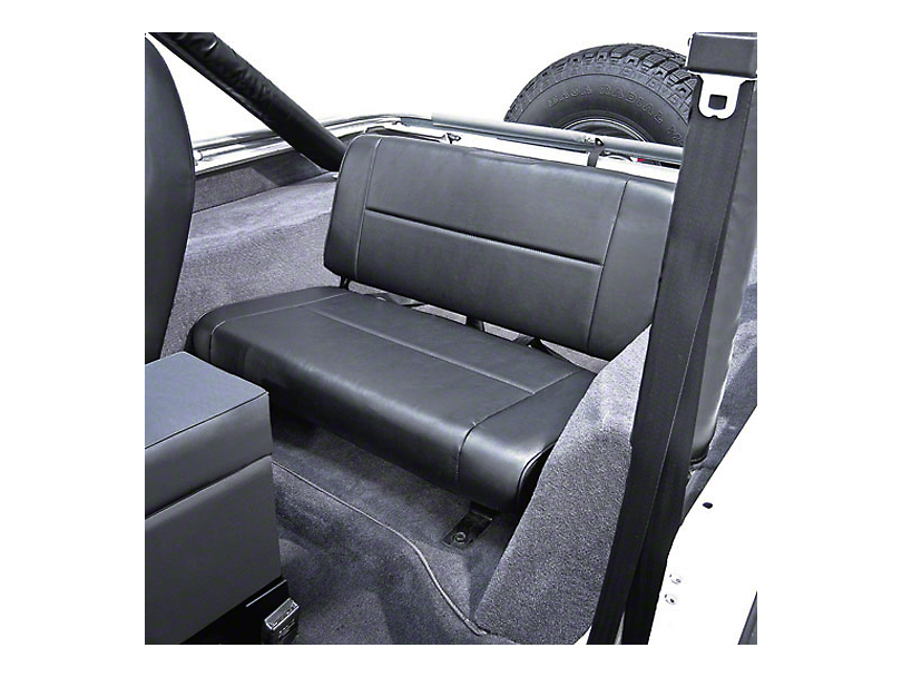 Rugged Ridge Standard Fixed Rear Seat - Black Vinyl (87-95 Jeep Wrangler YJ)