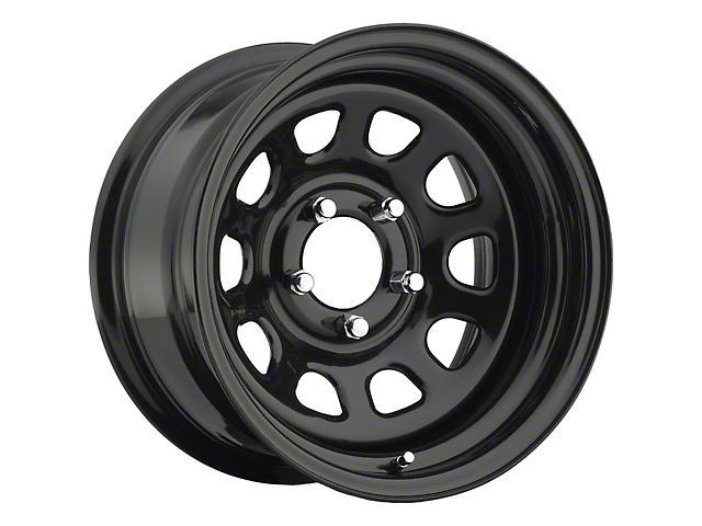 Pro Comp Series 51 Gloss Black Wheel; 15x10 (76-86 Jeep CJ5 & CJ7)