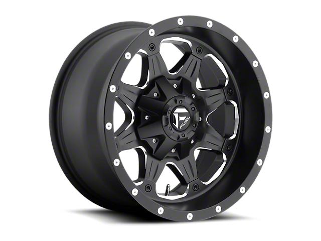 Fuel Wheels Boost Matte Black Milled Wheel; 16x8 (76-86 Jeep CJ5 & CJ7)