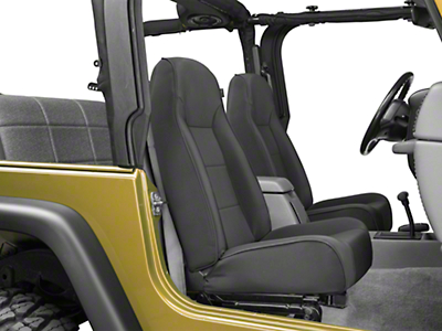 Rugged Ridge Standard Front Bucket Seat - Black Denim (87-02 Jeep Wrangler YJ & TJ)