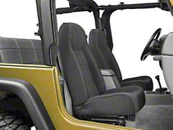 Rugged Ridge High-Back Front Seat; Black Denim (87-02 Jeep Wrangler YJ & TJ)