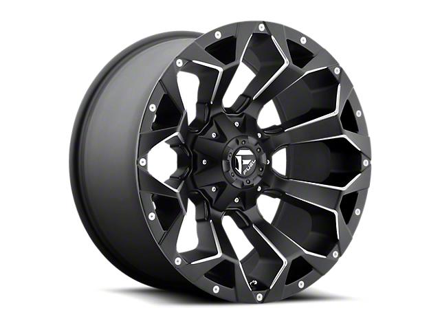 Fuel Wheels Assault Matte Black Milled Wheel; 15x8 (76-86 Jeep CJ5 & CJ7)