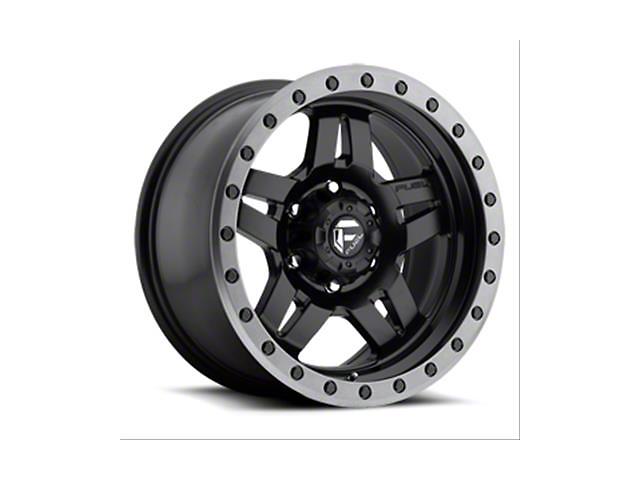 Fuel Wheels Anza Matte Black with Gun Metal Ring Wheel; 15x10 (76-86 Jeep CJ5 & CJ7)