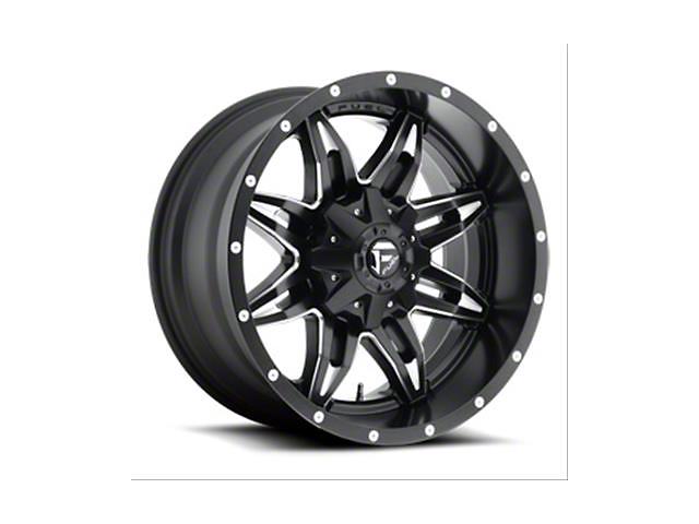Fuel Wheels Lethal Gloss Black Milled Wheel; 15x8 (76-86 Jeep CJ5 & CJ7)