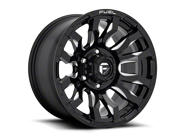 Fuel Wheels Blitz Gloss Black Milled Wheel; 16x8 (76-86 Jeep CJ5 & CJ7)