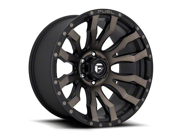 Fuel Wheels Blitz Matte Black with Double Dark Tint Wheel; 16x8 (76-86 Jeep CJ5 & CJ7)