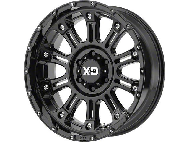 XD Hoss II Gloss Black Wheel; 17x9 (76-86 Jeep CJ5 & CJ7)