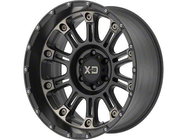 XD Hoss II Satin Black Machined with Dark Tint Wheel; 17x9 (76-86 Jeep CJ5 & CJ7)