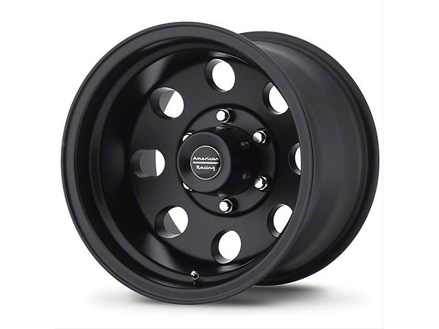 American Racing AR172 Baja Satin Black Wheel; 15x8 (76-86 Jeep CJ5 & CJ7)