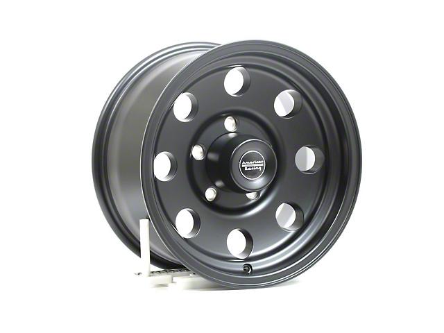 American Racing AR172 Baja Satin Black Wheel; 16x8 (76-86 Jeep CJ5 & CJ7)