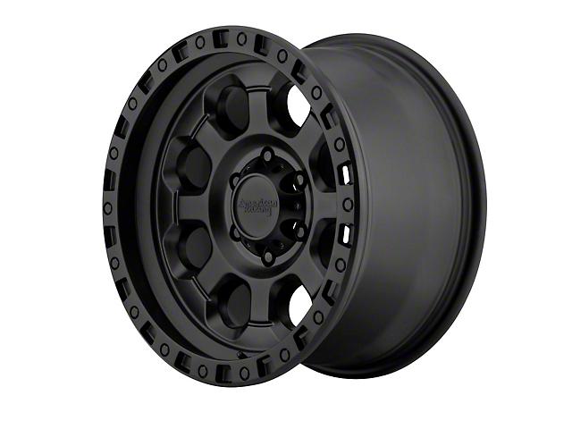 American Racing AR201 Cast Iron Black Wheel; 17x9 (76-86 Jeep CJ5 & CJ7)