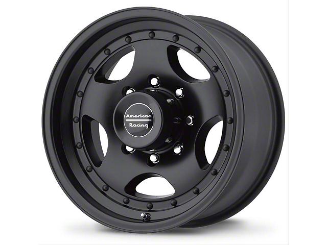 American Racing AR23 Satin Black Wheel; 15x8 (76-86 Jeep CJ5 & CJ7)