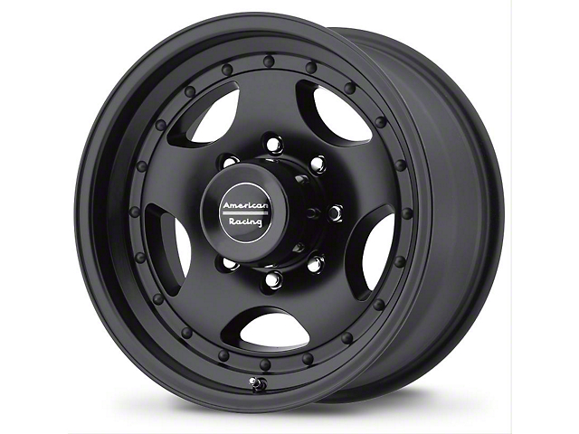 American Racing AR23 Satin Black Wheel; 16x8 (76-86 Jeep CJ5 & CJ7)