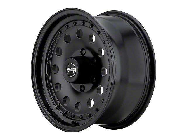 American Racing AR62 Outlaw II Satin Black Wheel; 16x8 (76-86 Jeep CJ5 & CJ7)