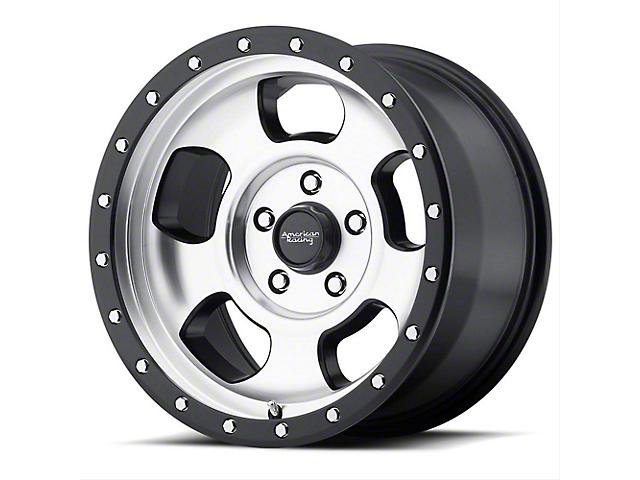 American Racing AR969 Ansen Offroad Satin Black Machined with Satin Black Ring Wheel; 15x8 (76-86 Jeep CJ5 & CJ7)