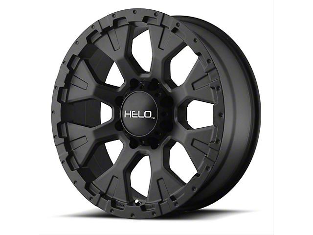 HELO HE878 Satin Black Wheel; 17x9 (76-86 Jeep CJ5 & CJ7)