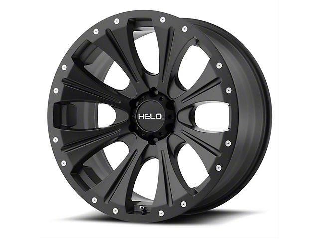 HELO HE901 Satin Black Machined Wheel; 17x9 (76-86 Jeep CJ5 & CJ7)