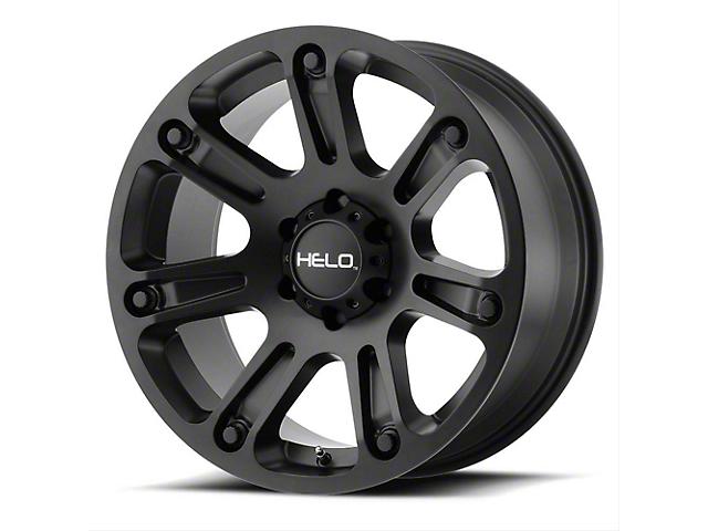 HELO HE904 Satin Black Machined with Dark Tint Wheel; 17x9 (76-86 Jeep CJ5 & CJ7)