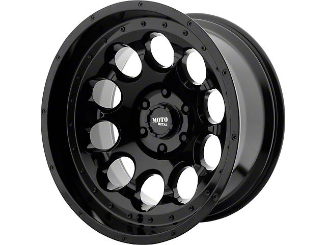Moto Metal MO990 Rotary Gloss Black Wheel; 17x9 (76-86 Jeep CJ5 & CJ7)