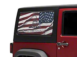 SEC10 Don't Tread Quarter Window Decal (07-18 Jeep Wrangler JK 2-Door)