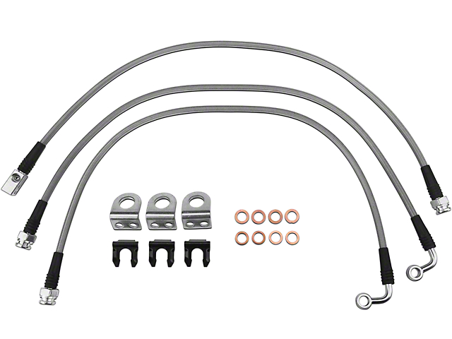 Teraflex Steel Braided Brake Lines - Complete Set (97-06 Jeep Wrangler TJ)