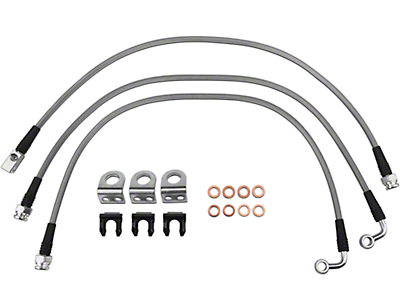 Teraflex Steel Braided Brake Lines - Complete Set (97-06 Wrangler TJ)