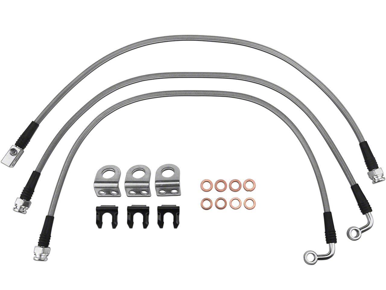 Teraflex Steel Braided Brake Lines - Complete Set (97-06 Jeep Wrangler TJ)