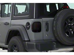 Tail Light Covers; Smoked (18-21 Jeep Wrangler JL w/o Factory LED Tail Lights)