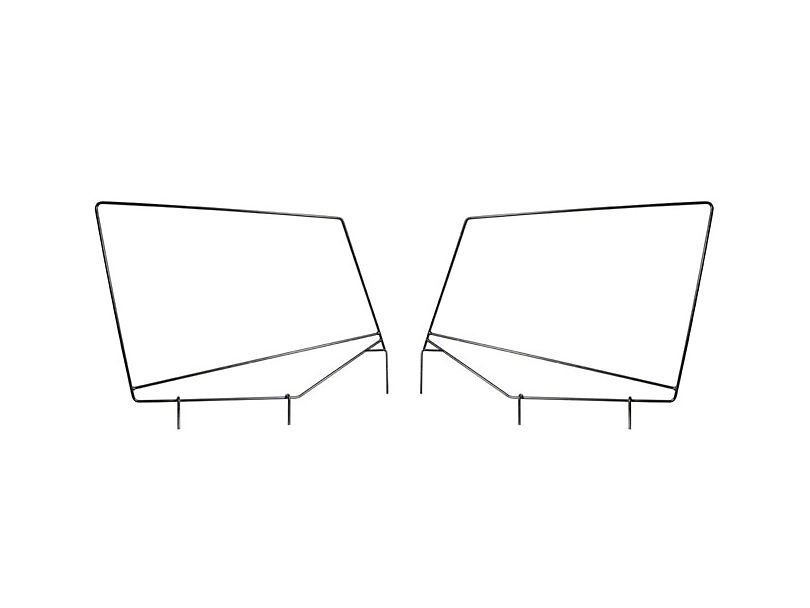 Rugged Ridge Steel Upper Door Skin Frames (87-95 Jeep Wrangler YJ w/ Soft Top)