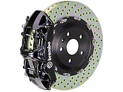 Brembo GT Series 6-Piston Front Big Brake Kit with 14.40-Inch 2-Piece Cross Drilled Rotors; Black Calipers (07-18 Jeep Wrangler JK)