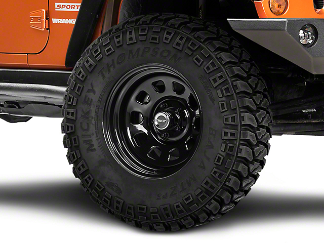 Rugged Ridge Steel Gloss Black Wheel; 17x9 (07-18 Jeep Wrangler JK)